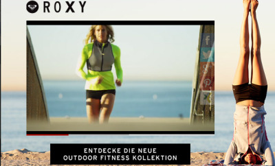 Die neue Roxy Outdoor Fitness Kollektion.
